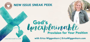 Christmas Issue Sneak Peek: God's Unexplainable Provision for Your Position