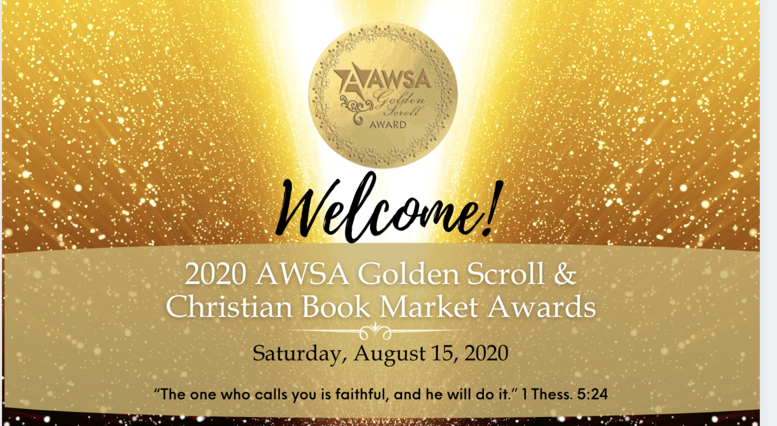 AWSA announces the 2020 Golden Scroll and Christian Market Book Award winners